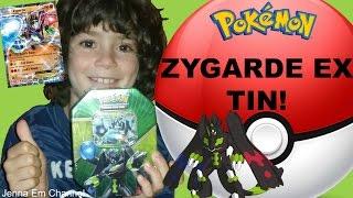 Pokemon Zygarde EX Shiny Kalos Tin Opening! Jenna Em Channel