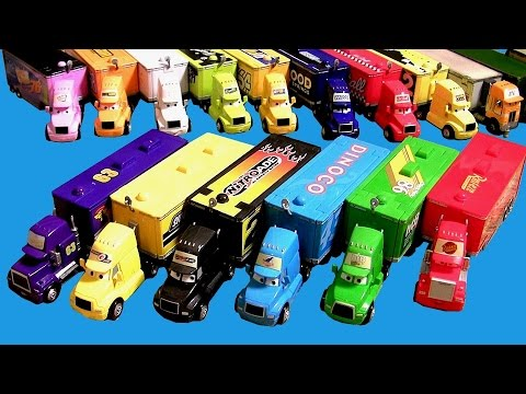 Thumbnail: 20 Cars Trucks Haulers Complete Collection Mack, King, Wally, Dinoco, Mood Springs, Disney Pixar