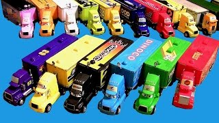 20 Cars Trucks Haulers Complete Collection Mack, King, Wally, Dinoco, Mood Springs, Disney Pixar thumbnail