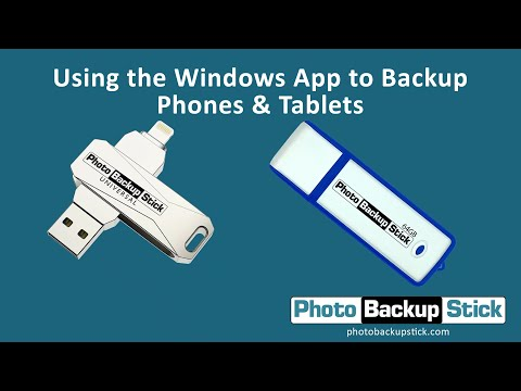 <strong>Backing Up Phones & Tablets Using Windows Computers</strong><br>How to back up phones and tablets using the Photo Backup Stick and your Windows computer.