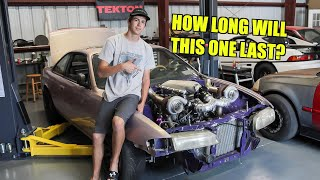 Twin Turbo S14 Gets a New Engine! (Stole It From The BatRod)