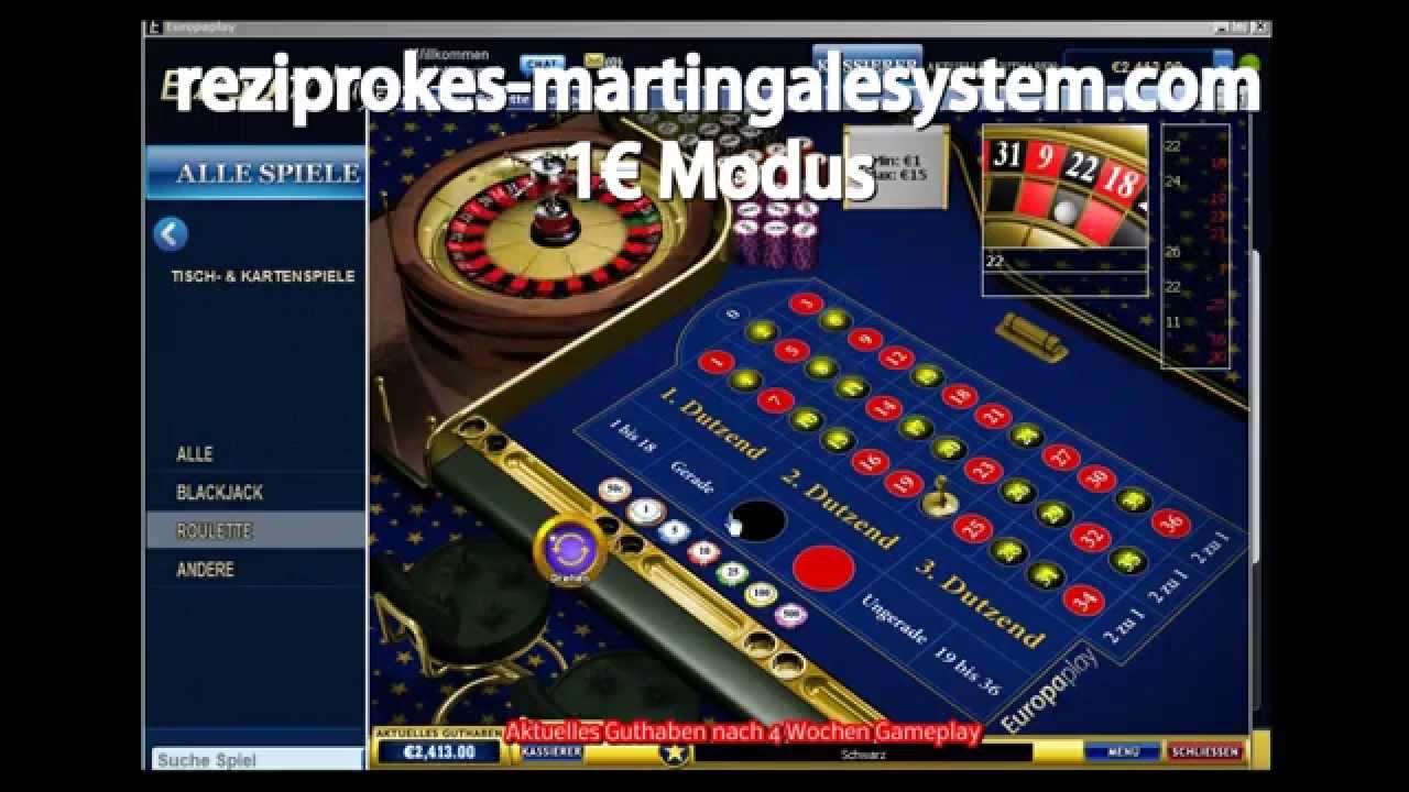 reziproke martingale betting