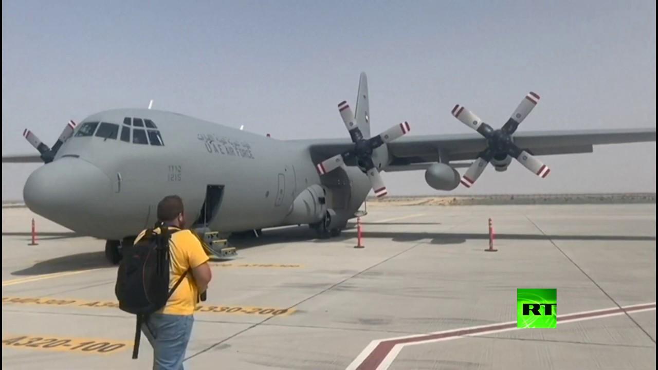 طائرة عسكرية إماراتية تصل إلى إيران