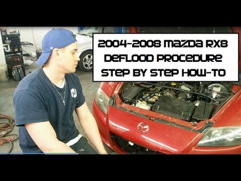 How to start a flooded Mazda RX8 Unflood, Deflooding Procedure RX-8