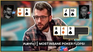 Three of the most EXCITING Poker FLOPS EVER!