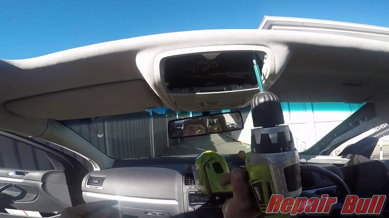 VW Golf Roof Lining Repair - Repair Bull - - Car Roof ...