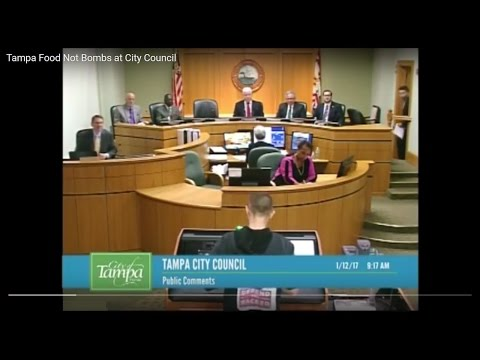 Tampa Food Not Bombs at City Council