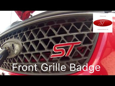 Focus ST Ownership - Front ST Badge