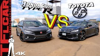 Not Even Close! Honda Civic Type R vs Toyota 86 TRD Drag Race and Track Battle | Hot or Not