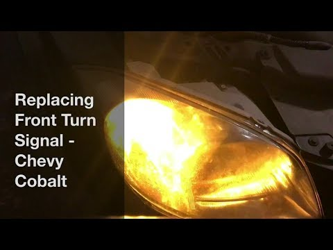 Replacing Front Turn Signal Bulb - Chevy Cobalt