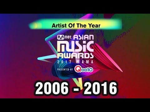 171215 MAMA 2017 Artist Of The Year - All Winners Compilation (2006 - 2016) @ exo BTS blackpink