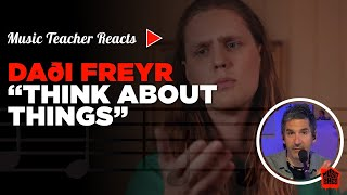 Music Teacher Reacts to Daði Freyr Think About Things | Music Shed #18