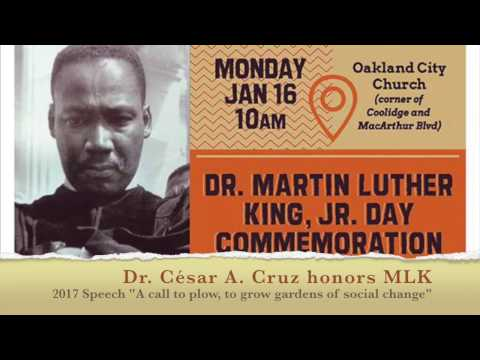 "Dr. César Cruz honors MLK with keynote address ""A Call to Plow"""