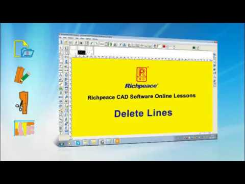 Richpeace CAD Software Online Lessons--Tip of the day--Delete Lines