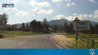 Drumul cu masina din Brasov catre Poiana Brasov