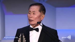 George Takei receives Vito Russo Award at the #glaadawards in NY