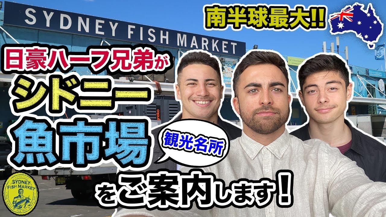 【実践英語】オーストラリア最大のフィッシュマーケットを日豪ハーフ兄弟がご案内!