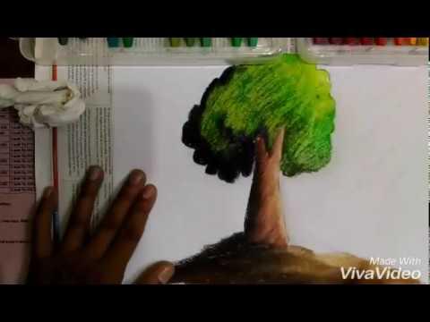 Wn How To Draw And Colouring Tree Cara Menggambar Dan Mewarnai