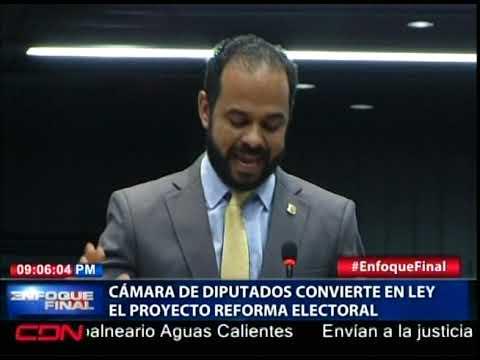 Cámara de Diputados convierte en ley el proyecto Reforma Electoral