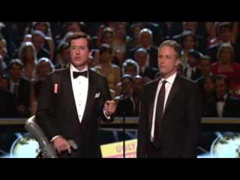 Stewart & Colbert Presenting at Emmys 2007 (Full)