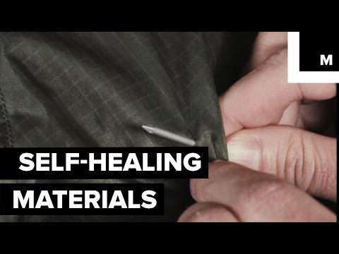 Self-healing fabric