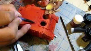 Video 1 Warhammer 40k Blood Angels Hand  Painted Rhino
