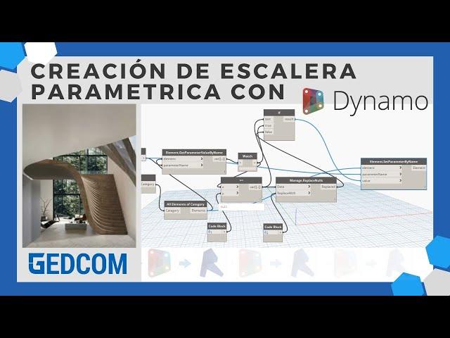 Como crear una escalera parametríca en Revit con Dynamo