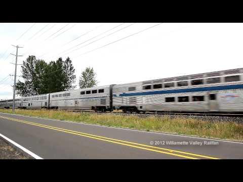 Amtrak Coast Starlight train 11 at Indian School Road - Salem, Oregon July 18th, 2012