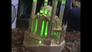 мечеть Кул-Шариф из спичек. Видео 2(Поделки из спичек. Зеленая светодиодная подсветка, работает с розетки, 12В., 2014-04-28T17:58:23.000Z)