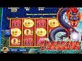 5 DRAGONS - BONUSES!!! ARISTOCRAT GAMES in CASINO - VIDEO SLOT MACHINE
