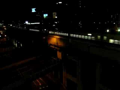 Shinkansen Train - Okayama Station (view from above)