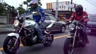 CB1300 SUPER FOUR VS  SRX600 YAMAHA VS HONDA YouTube