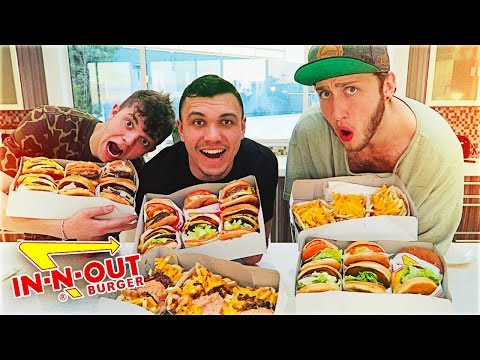 ENTIRE IN-N-OUT MENU IN 10 MINUTES CHALLENGE!!