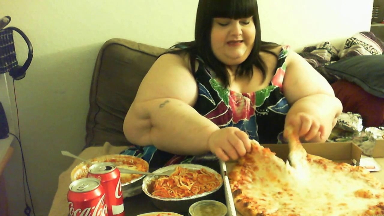 Fat Lady Eating Food
