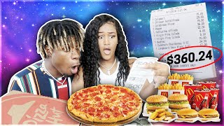 Letting The Person In FRONT Of Me DECIDE What We EAT For 24 Hours! **MUST WATCH**