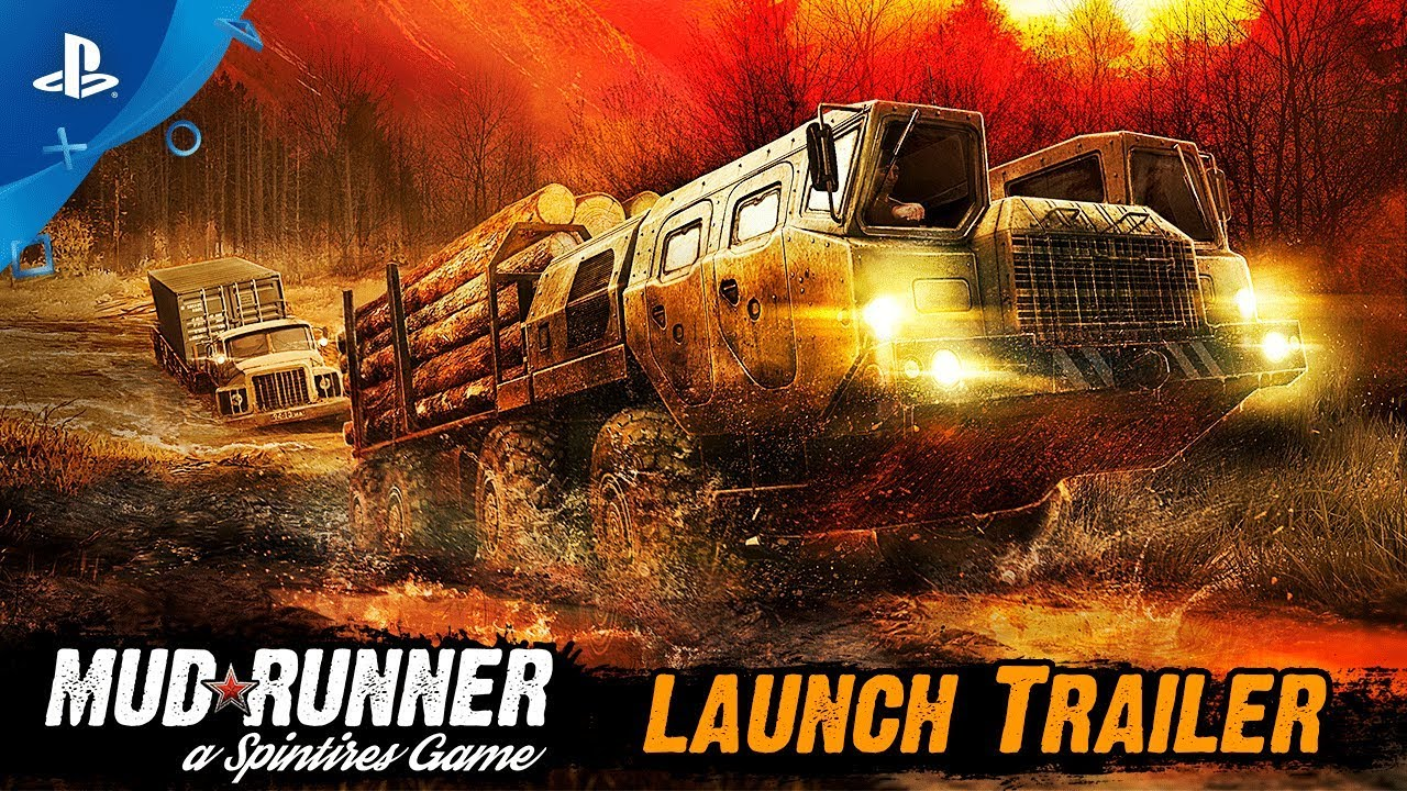 spintires mudrunner launch trailer ps4 youtube. Black Bedroom Furniture Sets. Home Design Ideas