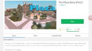 Me talking vids :) : Roblox :The Plaza!
