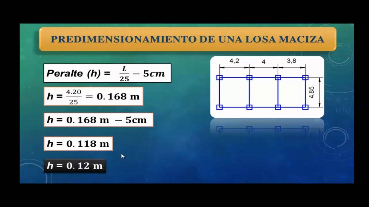 Predimensionamiento de columnas norma peruana