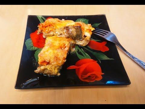 Рыба запечённая в духовке с овощами и сыром - просто и вкусно.
