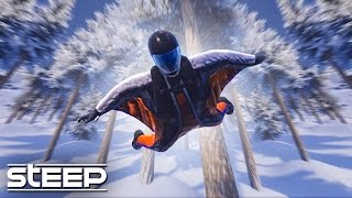 WINGSUITING THROUGH TREES! - STEEP GAMEPLAY