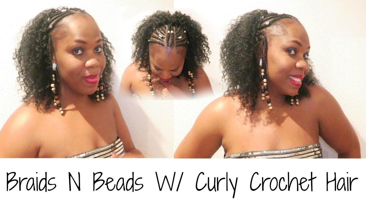 Fulani Braids Amp Beads W Crochet Curly Hair Tutorial