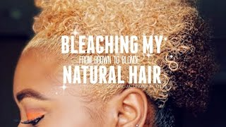 HOW TO SAFELY BLEACH NATURAL HAIR | FROM BROWN TO BLONDE