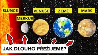 Jak dlouho lze přežít na různých planetách?