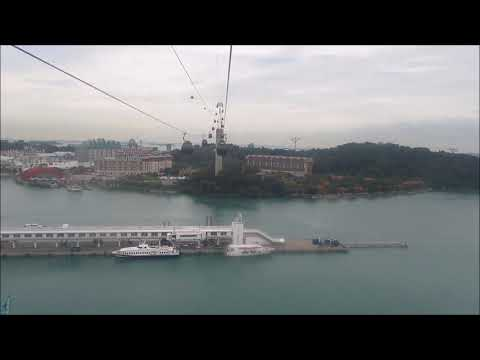 Spectacular view!! Complete Singapore Cable Car Joy Ride from Mount Faber to Sentosa Island.
