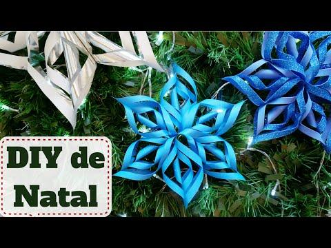 Decoração de NATAL baratinha #7: Estrela ou flor de papel |DIY - Faça você mesmo