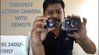 4K ULTRA HD ACTION CAMERA WITH REMOTE REVIEW AND UNBOXING IN ENGLISH