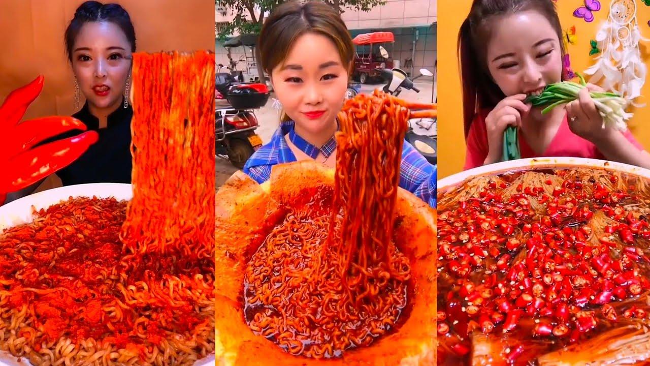 รวมคนจีนกินเส้น ตอน5 🌶🌶🌶หม่าล่าเผ็ดๆ เผ็ดลิ้นชา Spicy noodles Eating show คนจีนกินโชว์ ep.54