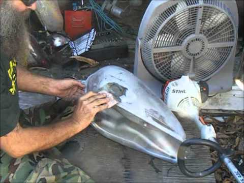quickie bondo fix for old dented up motorcycle tanks youtube. Black Bedroom Furniture Sets. Home Design Ideas