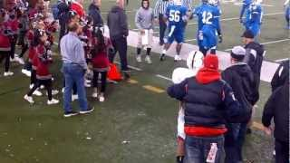 cheerleader gets tackled