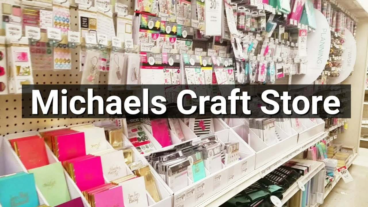follow me around michaels arts craft store tour youtube